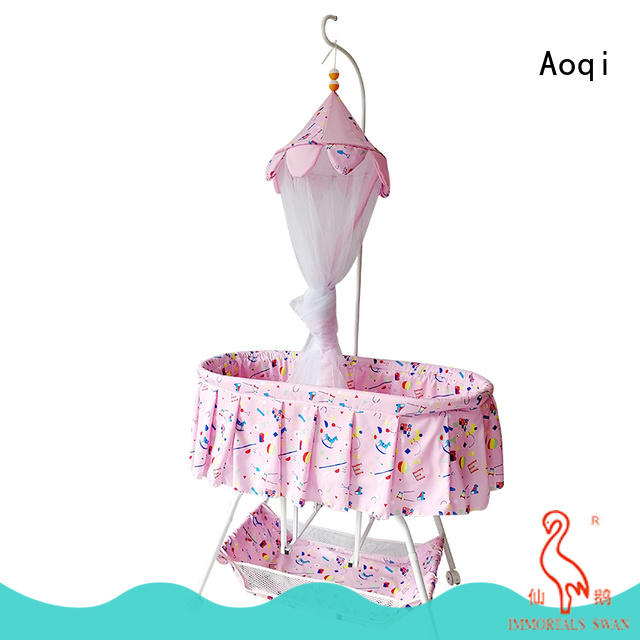 Aoqi cheap baby cots for sale with cradle for bedroom