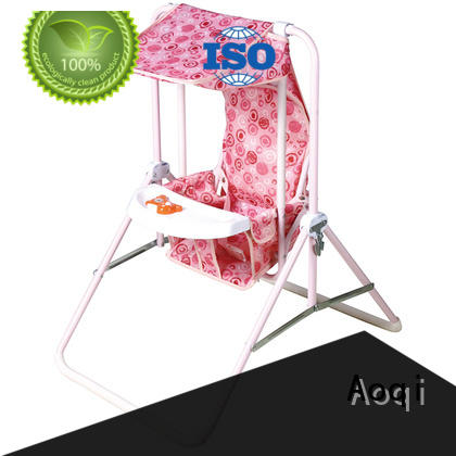 Aoqi upright baby swing factory for kids