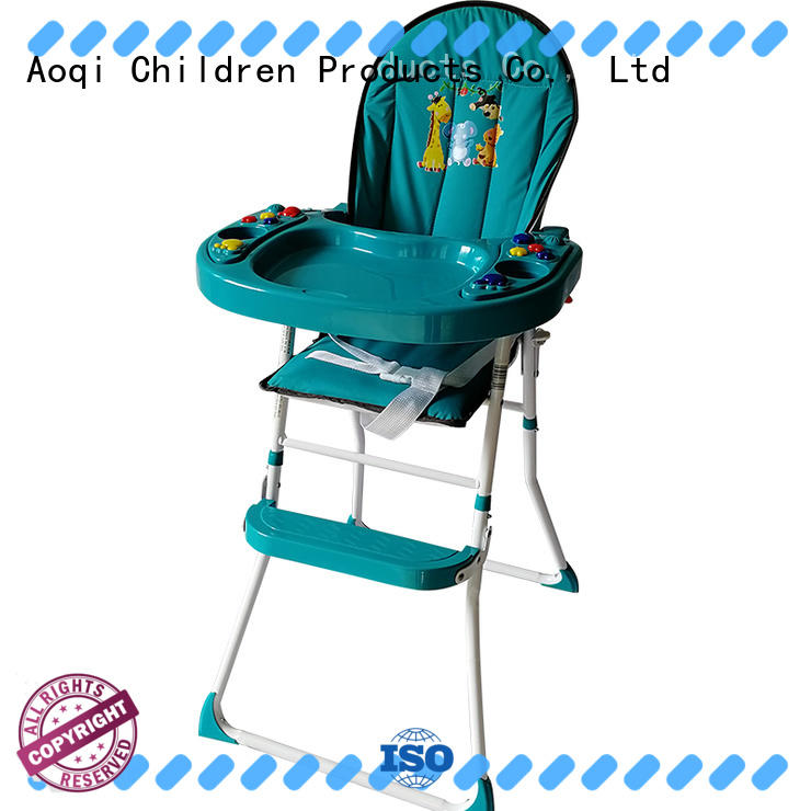 Aoqi portable adjustable high chair for babies from China for infant