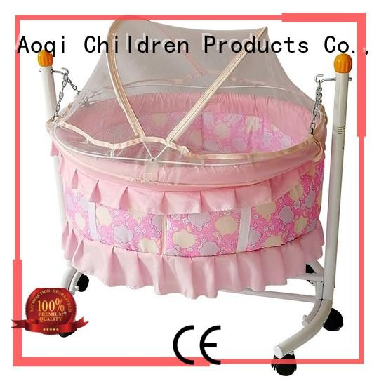 Aoqi iron newborn cribs for sale customized for babys room