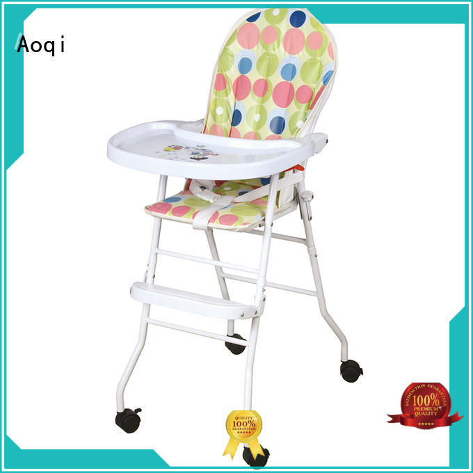 dining baby high chair with wheels directly sale for infant