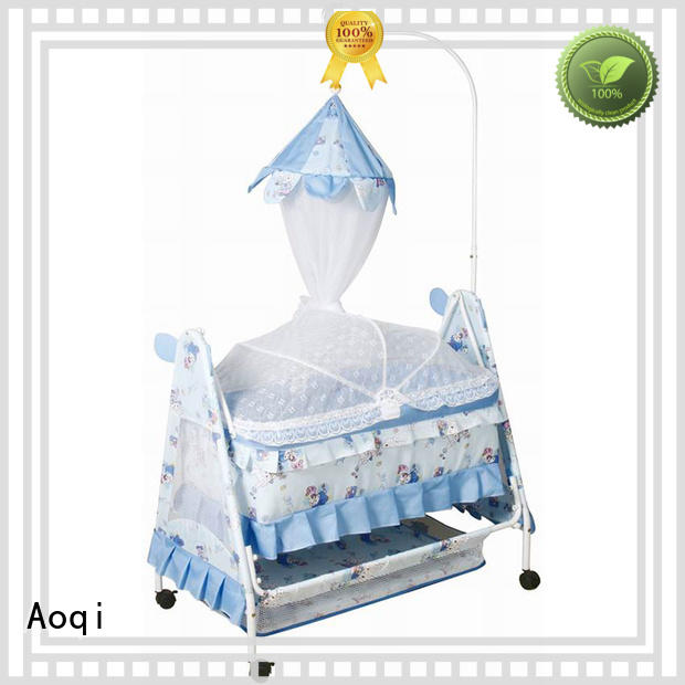 Aoqi wooden baby swing bed price inside for household
