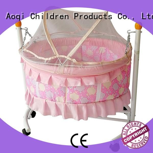 Aoqi portable baby crib cheap price furniture for kids