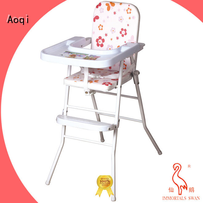 Aoqi dining baby high chair with wheels series for livingroom