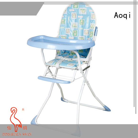 Aoqi foldable folding baby high chair directly sale for livingroom