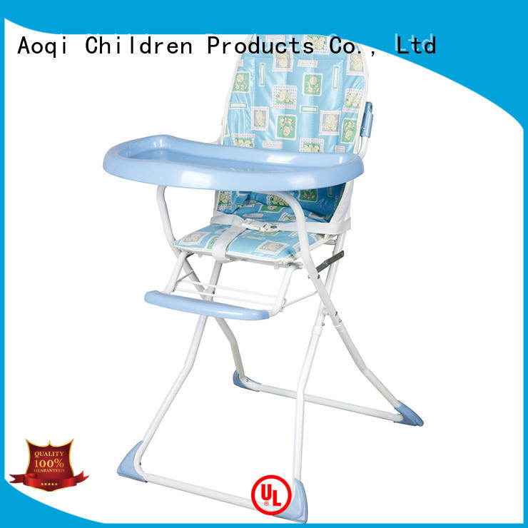 metal child high chair designed adjustable Aoqi company