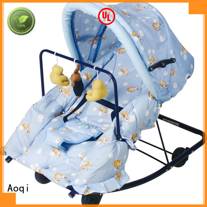 Aoqi foldable newborn baby rocker factory price for bedroom
