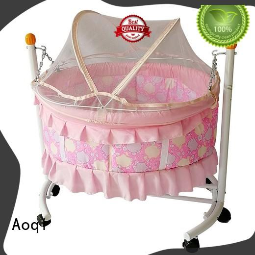 Aoqi wooden baby bed with drawers with cradle for bedroom