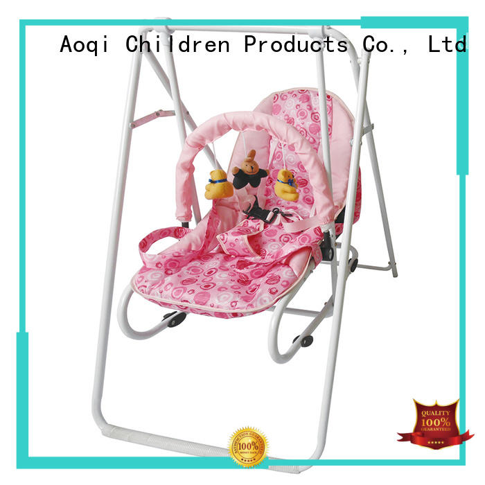 ic Custom stable cheap baby swings for sale foldable Aoqi