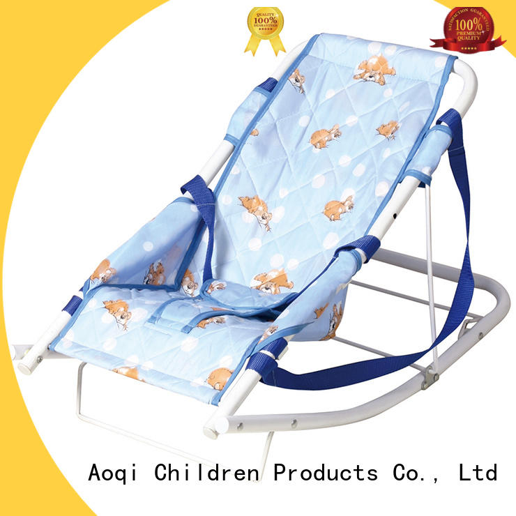 Aoqi foldable neutral baby bouncer wholesale for toddler