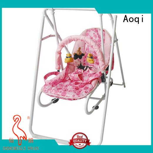 portable safe stable Aoqi Brand baby swing chair online manufacture
