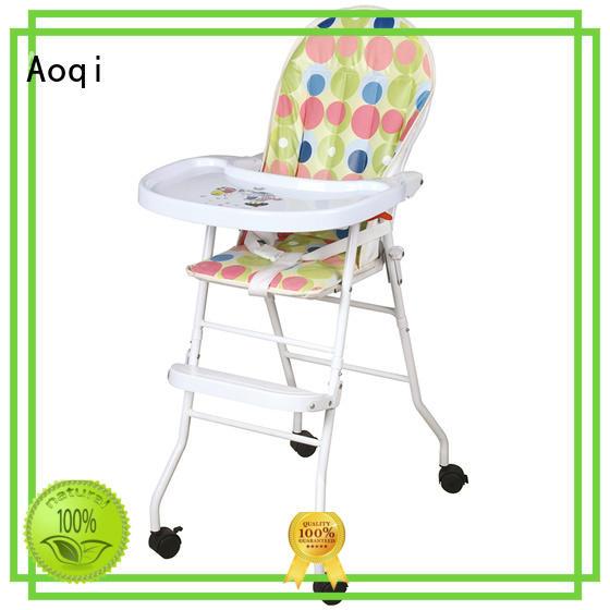 adjustable metal safe Aoqi Brand child high chair supplier