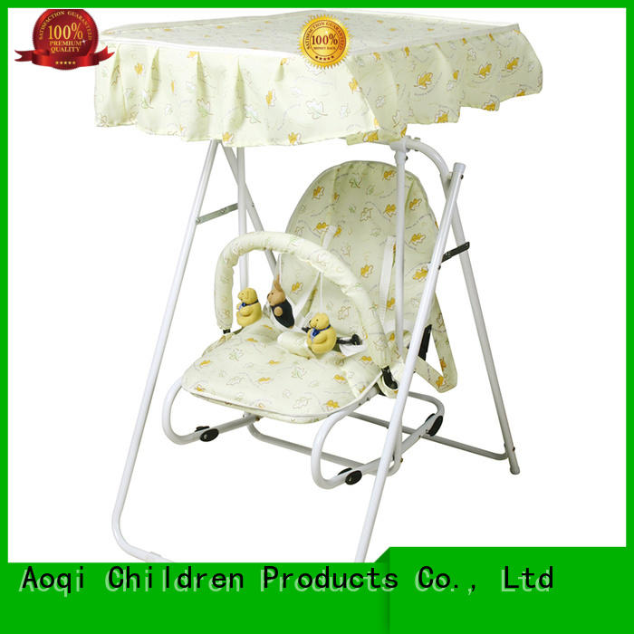 Quality Aoqi Brand baby swing chair online standard portable