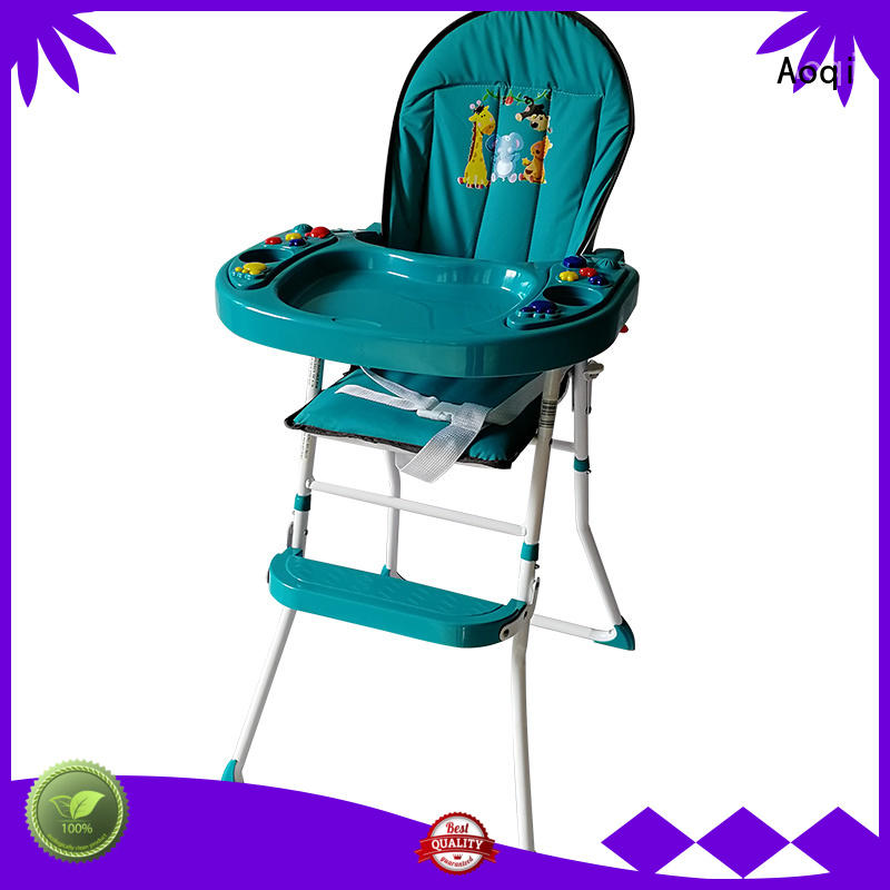 foldable plastic high quality removable child high chair Aoqi