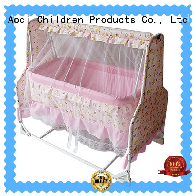 Aoqi portable electric baby swing bed sale for household