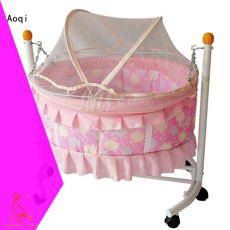 Aoqi wooden baby sleeping cradle swing with cradle for bedroom