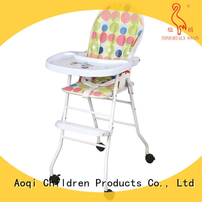 Aoqi baby high chair with wheels from China for infant