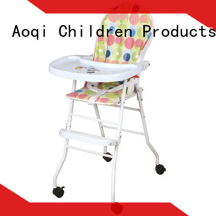 plastic folding baby high chair customized for livingroom