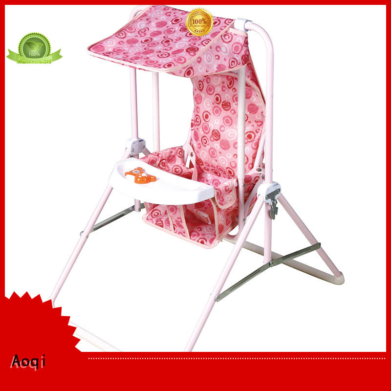 Aoqi Brand foldable tray high quality multi-colors cheap baby swings for sale