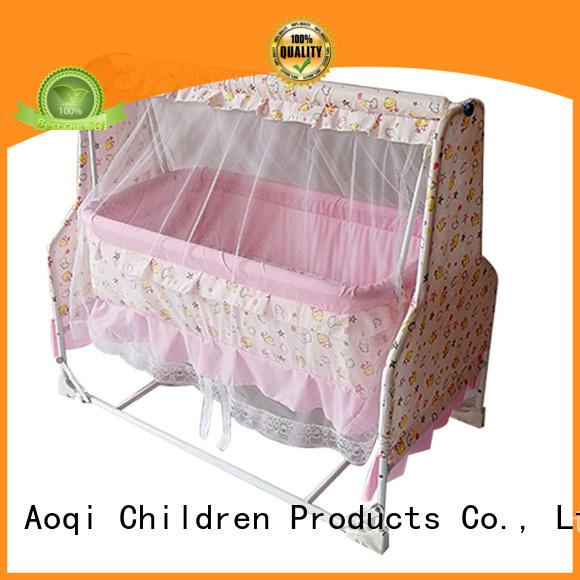 Aoqi wooden baby crib online series for household