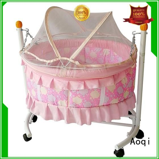 high quality portable wooden transformable Aoqi Brand baby crib online supplier