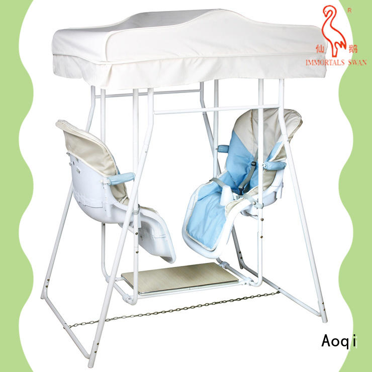 Aoqi double seat baby swing price with good price for babys room