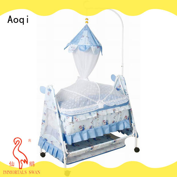 Aoqi round shape baby cot bed sale series for bedroom