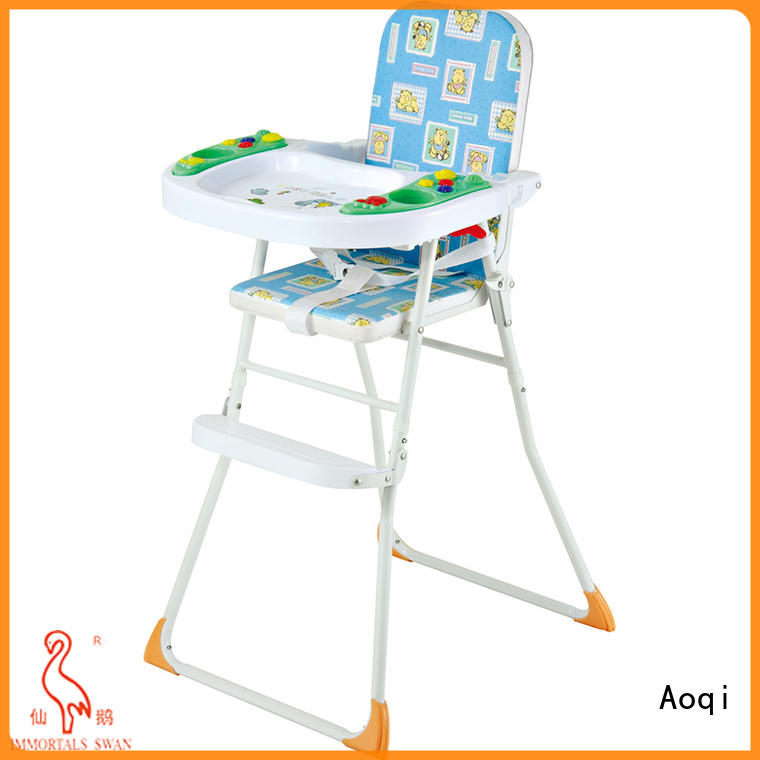 Aoqi plastic adjustable high chair for babies manufacturer for livingroom
