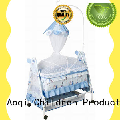 Aoqi wooden baby crib online series for babys room