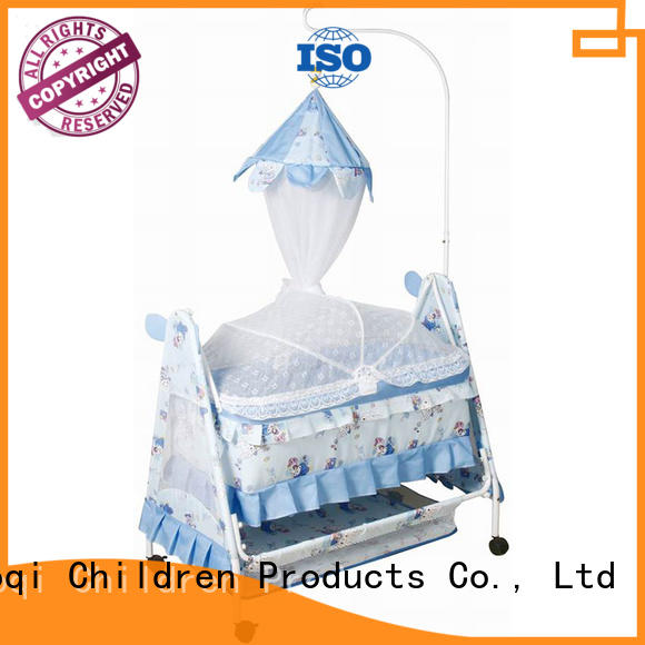 Aoqi multifunction baby sleeping cradle swing manufacturer for bedroom