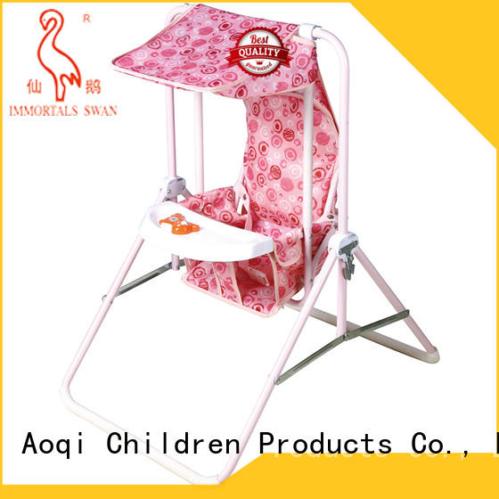 Aoqi quality best baby swing chair design for household