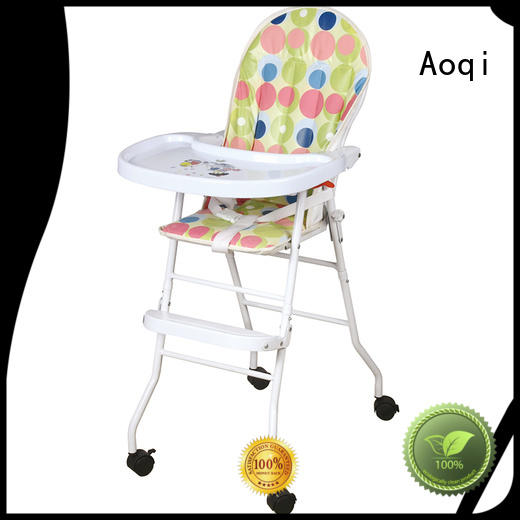 portable multifunctional child high chair adjustable metal Aoqi company