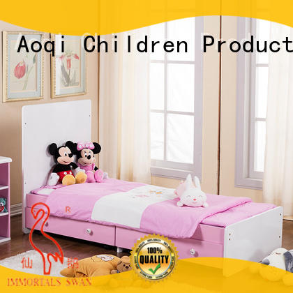 Aoqi wooden electric baby swing bed for bedroom