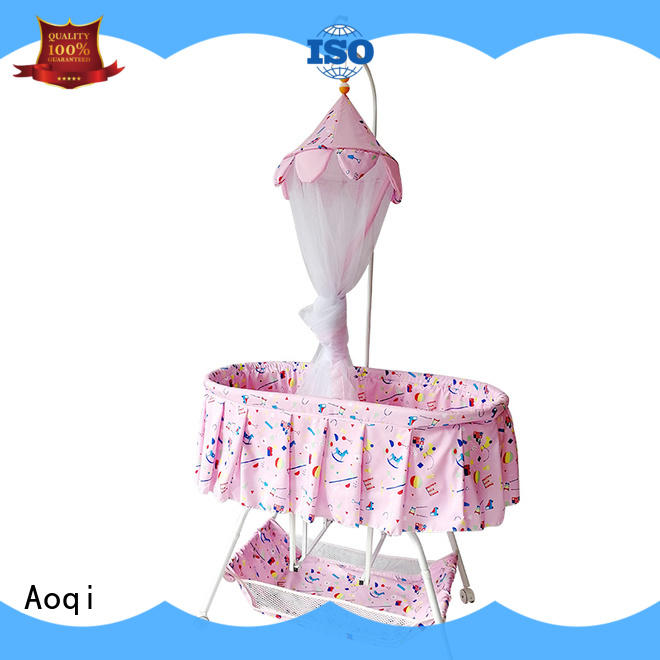 Aoqi portable baby crib cheap price for household