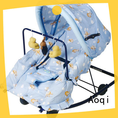 Aoqi comfortable neutral baby bouncer factory price for infant
