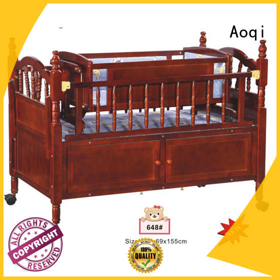 Aoqi transformable baby cot bed sale from China for bedroom