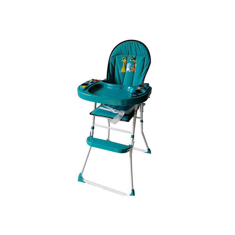 Special design baby dining high chair with music 319A-1