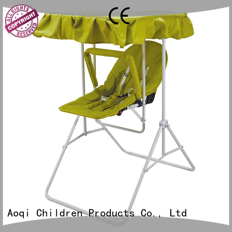 Aoqi hot selling best compact baby swing factory for kids