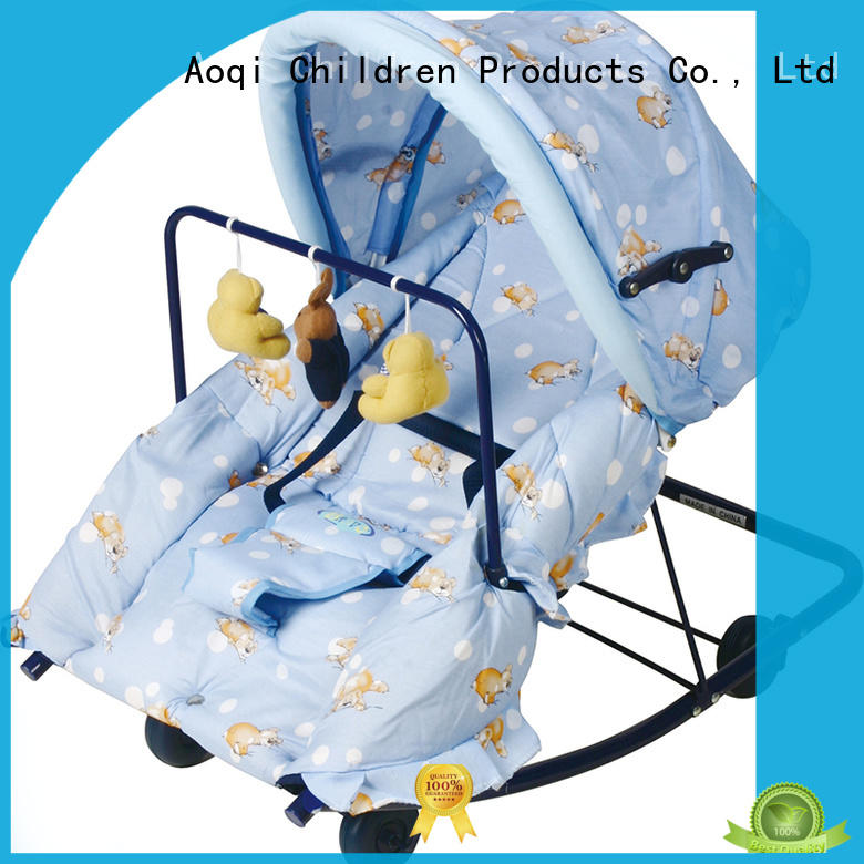 Comfortable baby rocking chair with canopy and hanging toys 405A