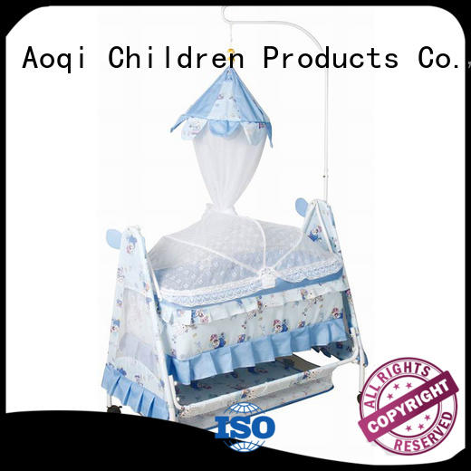 Wholesale wooden baby crib online Aoqi Brand