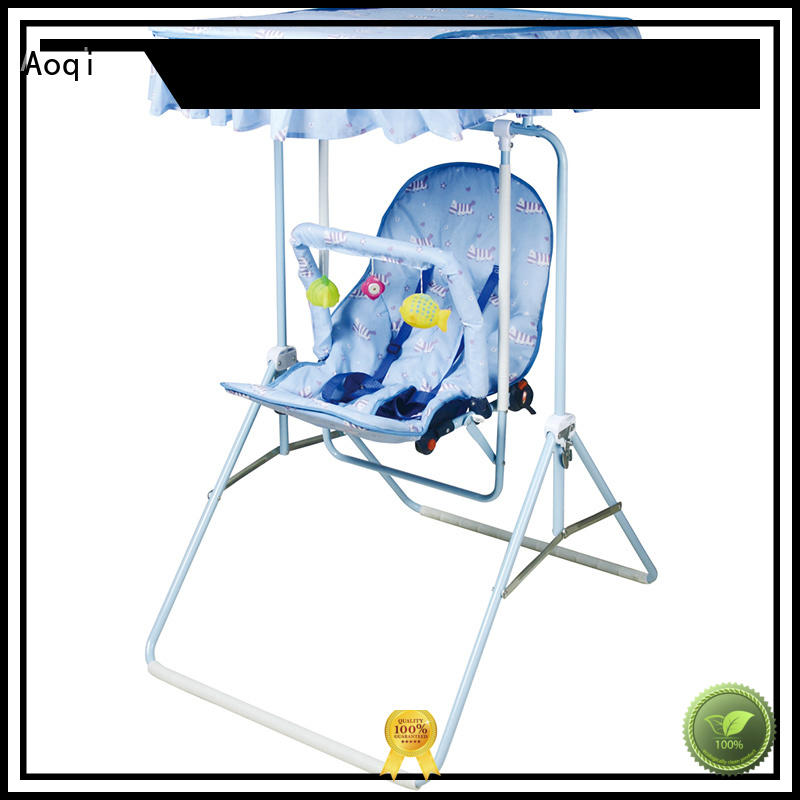 Aoqi Brand portable stable custom baby swing chair online