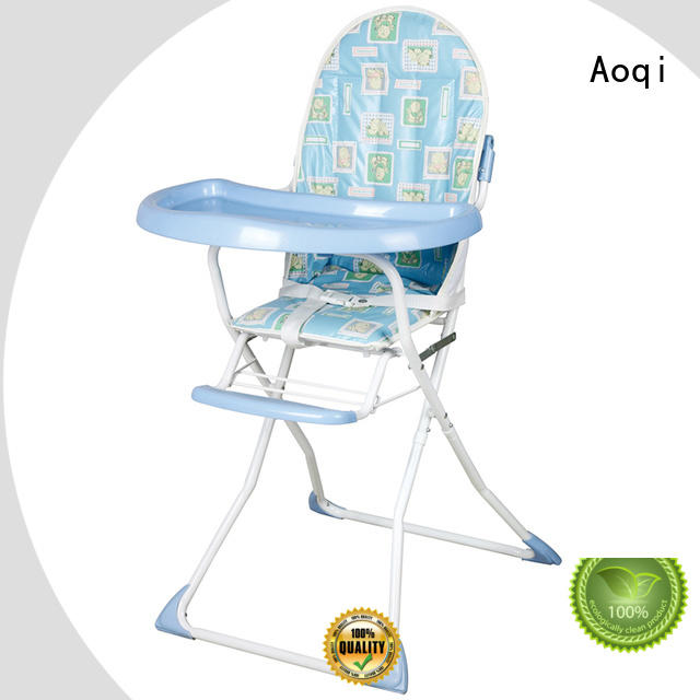Aoqi plastic child high chair portable for livingroom