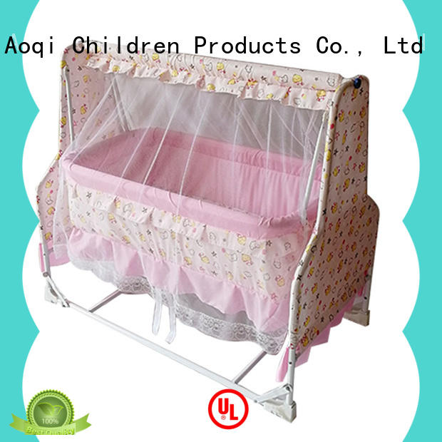 Aoqi wooden baby crib for sale directly sale for household
