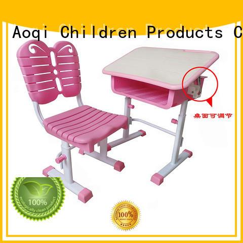 kids study table and chair set foldable Bulk Buy plastic Aoqi