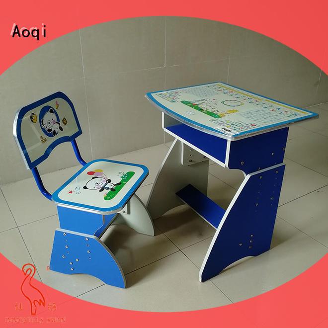 Aoqi preschool study desk and chair set design for study