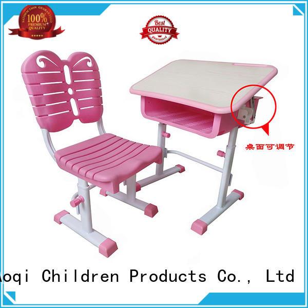 preschool baby study table chair set design for study Aoqi
