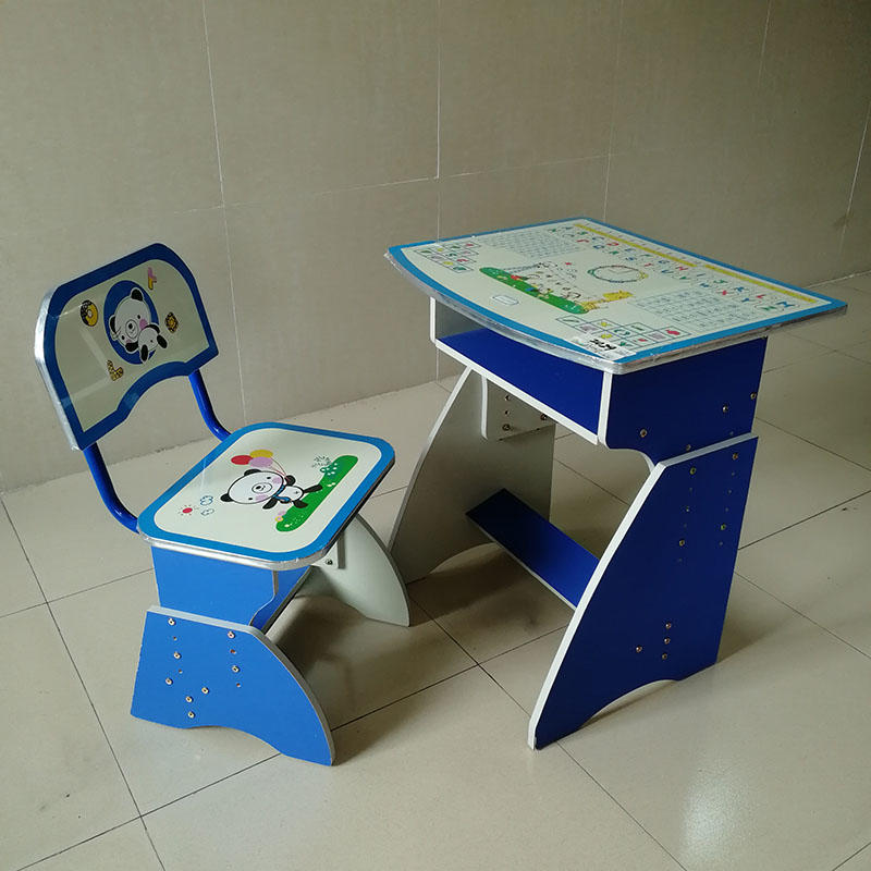 kids study table and chair set preschool high quality children's study table and chair manufacture