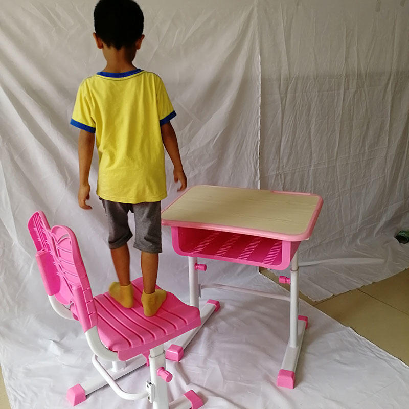 plastic stable OEM children's study table and chair Aoqi