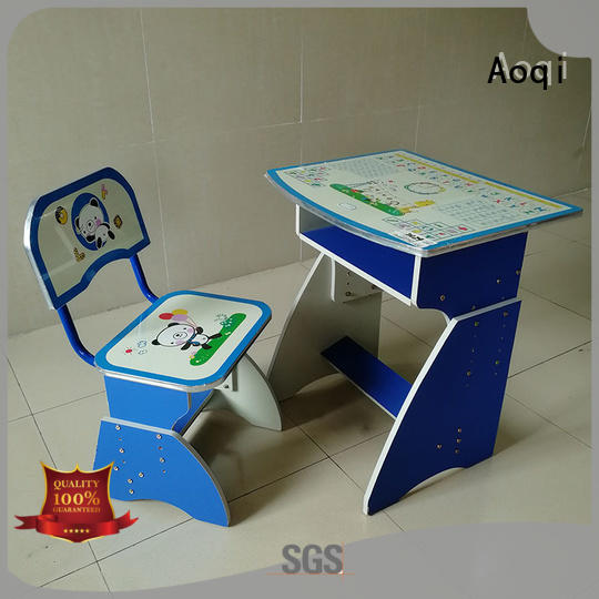 Aoqi excellent youth desk and chair set with good price for home