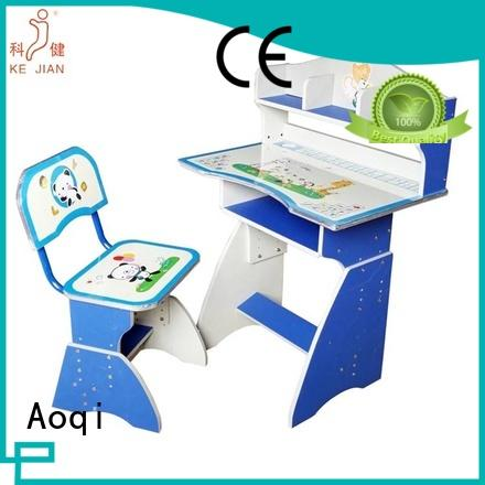 high quality children's study table and chair adjustable Aoqi company